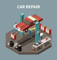 car service isometric concept vector image