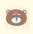 card with cute bear for vector image