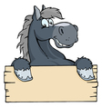 Cartoon horse label vector | Price: 1 Credit (USD $1)