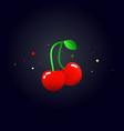 cherry concept flat cherry vector image vector image