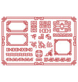 chinese frames asian new year decorative square vector image