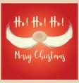 christmas card with santa moustache vector image