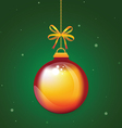 ChristmasBallRed vector image