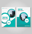 Circle green annual report Leaflet Brochure vector image vector image