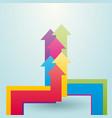 colored arrows showing upward vector image