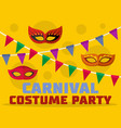 costume party logo flat style vector image vector image