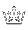 Crown with diamonds Royalty design vector image vector image