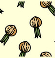cute cartoon flat style onion seamless pattern vector image vector image