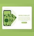 digital mobile wallet concept icon internet vector image vector image