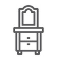 dresser line icon home and furniture cabinet vector image vector image