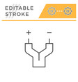 electric wire line icon vector image vector image