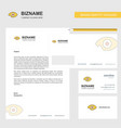 eye business letterhead envelope and visiting vector image vector image
