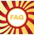 FAQ abstract icon vector image vector image
