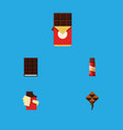 flat icon cacao set of chocolate bar dessert vector image vector image