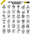 franchise business icons vector image vector image