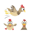 Funny chickens vector image