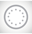 Grey European Union sign icon vector image