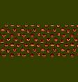 halloween pattern pumpkin emotion faces vector image vector image