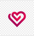 heart logo creative art icon vector image vector image