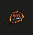 hot sale banner burn discount ads black vector image vector image