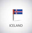 iceland flag pin vector image vector image