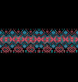 ikat seamless pattern tribal art print chevron vector image