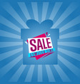limited time sale sticker on box silhouette vector image vector image