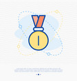 medal thin line icon vector image