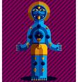 Meditation theme drawing of a creepy creatu vector image vector image