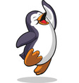 Penguin Jumping in Excitement vector image vector image