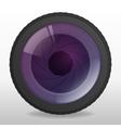 Photo camera lense vector image vector image