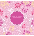 pink abstract triangles frame seamless pattern vector image vector image