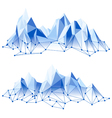 poly mountains vector image vector image