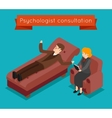 Psychologist consultation mental problems vector image