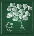 romantic chalked heart shape balloons bouquet vector image