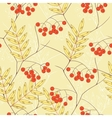 Seamless background with rowanberry and leaves vector | Price: 1 Credit (USD $1)