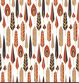 seamless tribal texture with vertical boho vector image vector image