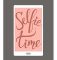 Selfie time Brush hand lettering vector image
