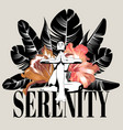 serenity hand drawn young lady vector image vector image