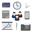 Set of business items on a white background vector image vector image