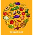 set organic food vector image vector image