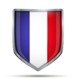 Shield with flag France vector image vector image