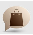 Shopping bag Brown gradient icon on vector image