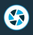 shutter icon colored symbol premium quality vector image vector image