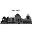spain seville architecture city skyline vector image vector image