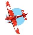 sport plane vector image