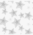 star seamless pattern white and grey retro vector image vector image