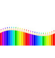 stock background with color pencils on white vector image vector image