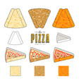 stock design of package for pizza slices vector image vector image