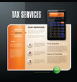 tax firm web template vector image vector image